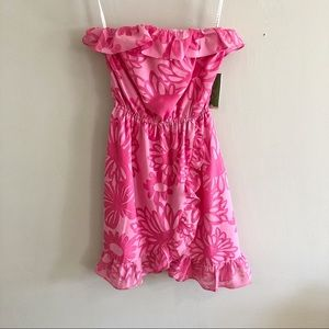 Lilly Pulitzer Strapless Dress in Hotty Pink NWT